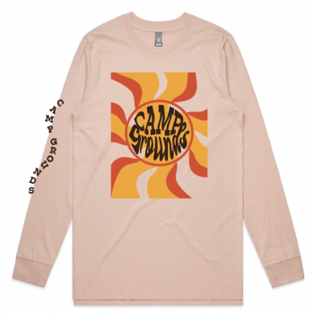 Camp Grounds Apparel limited release long sleeve tee coffee merch apparel